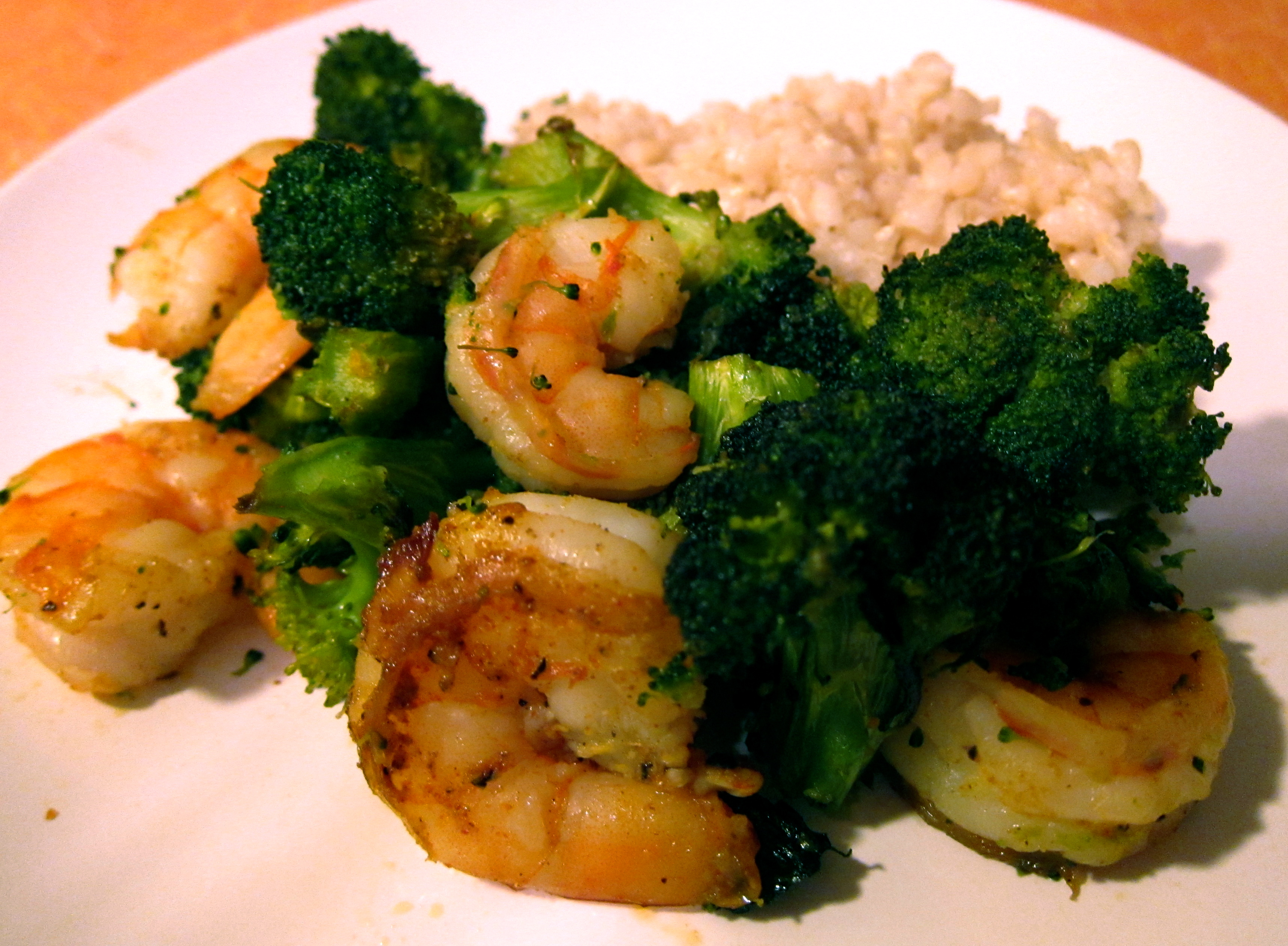 Melissa Clark's Roasted Broccoli with Shrimp | dishes and dishes
